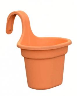 Jardinera Simple de Balcón Naranja