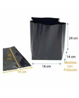 Bolsa Plástica para Almácigo y Plantas de 35×35 – 50 Unidades