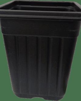 Macetero Cuadrado Negro 1.8 Litros