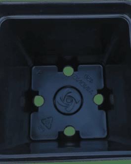 Macetero Cuadrado Negro 1.1 Litro